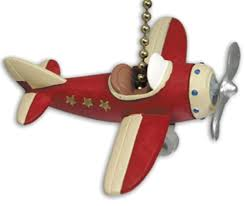 Childrens Bedroom Ceiling Fans Red Plane Propeller Airplane Ceiling Fan Pull Chain Kids Ceiling