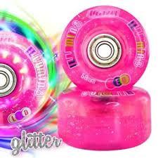 light up roller skate wheels illumin8 led light up roller skate quad wheels speed derby pink 62mm