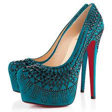 Peacock High Heels 2017 Christian Louboutin Red Bottom Decorapump 16cm High Heels