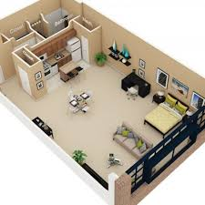 1 Bedroom Loft Apartments by 1 Bed 1 Bath Apartment In Chicago Il Cobbler Square Loft