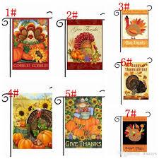 2018 thanksgiving garden flag banner turkey home decor