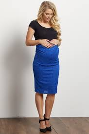 maternity skirt navy blue lace fitted maternity skirt