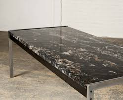 black marble coffee table black marble and brushed steel coffee table by kho liangh for
