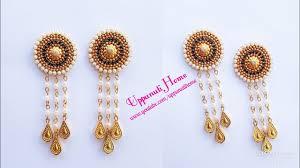 diy drop earrings how to make designer pearl drop earrings at home diy bahubali