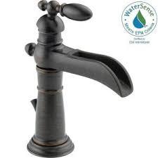 open spout bathroom faucet delta victorian single hole single handle open channel spout