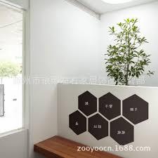 online shop u0026 home decor hexagon blackboard removable vinyl wall
