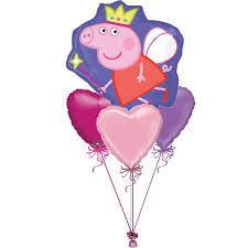 heart balloon bouquet peppa pig helium filled balloon bouquet balloon in a box for