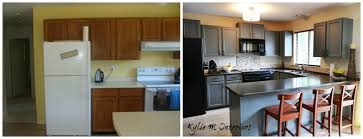 Update Oak Kitchen Cabinets by How To Update Oak Painted Oak Kitchen Cabinets Chelsea Gray Before