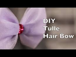 tulle hair bows how to make a hair bow using tulle