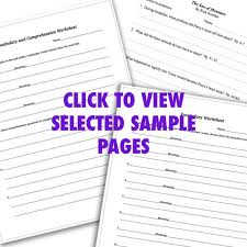 reading comprehension worksheets guides workbooks answer keys
