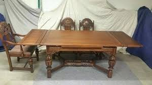 1930 Dining Table 1930s Dining Room Furniture Vintage Butterfly Leaf Mahogany Dining