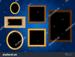 picture frame vector antique vintage wooden stock vector 517701961