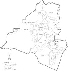 Road Map Of Louisiana by File Map Of Lafayette Parish Louisiana With Municipal And District