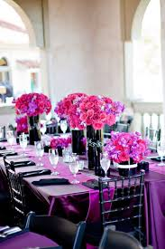 Black Table Centerpieces by Best 20 Purple Black Wedding Ideas On Pinterest Halloween