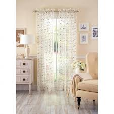 Walmart Sheer Curtain Panels Decor Unique Walmart Sheer Curtains For Better Homes And Garden