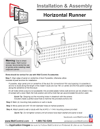 instructions on how to install wall control horizontal metal