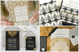 back into the 1920 great gatsby art deco inspired wedding theme
