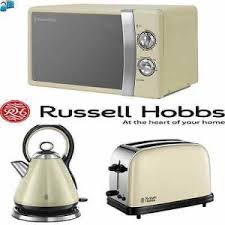 Grey Kettle And Toaster Russel Hobbs Grey Set Digital Microwave 20 L 2 Slice Toaster