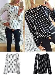 black polka dot blouse polka dot tops cheap price
