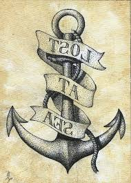 tribal anchor tattoo design idea for men and women