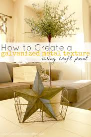 how to create a galvanized metal texture using craft paint