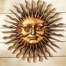 wall ideas design faces sun wall metal classic themes