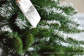 how to add snow to an artificial tree u create