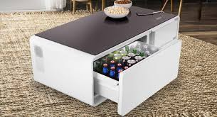 Coffee Table With Sobro Is A Smart Coffee Table With A Built In Fridge Fatherly