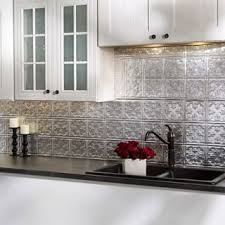 aluminum kitchen backsplash aluminum tile for less overstock