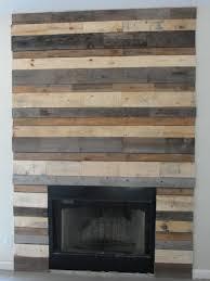 wood plank fireplace surround home pinterest fireplace