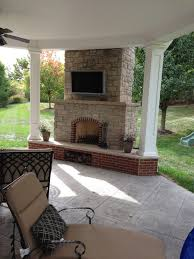 Outdoor Chimney Fireplace by Outdoor Fireplaces St Louis Poynter Landscape