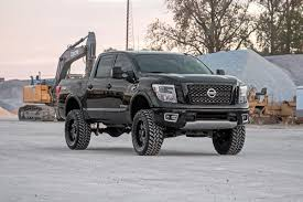nissan armada ride quality 6in suspension lift kit for 2017 4wd nissan titan pickups rough
