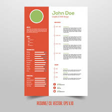 Free Infographic Resume Templates Resume Template With Useful Infographic Elements Vector Free