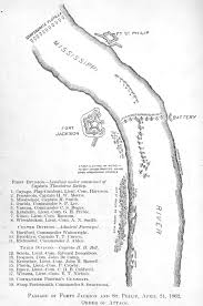 Map Of South Louisiana by Louisiana Civil War Battle Fort Jackson And Fort St Philip