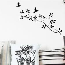 animals wall decals birds flying tree branches decorative