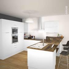 d o peinture cuisine cuisine blanche et bois clair