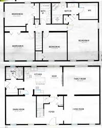 House With 4 Bedrooms Blueprint Of House With Dimensions House Decorations