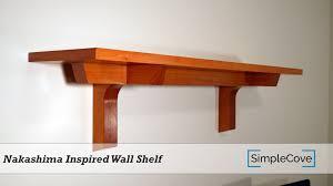 nakashima inspired wall shelf youtube