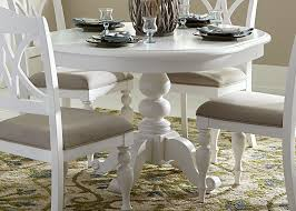 Dining Room White Chairs by Summer House Oyster White Oyster White Round Pedestal Dining Table
