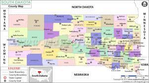 south dakota county map south dakota counties