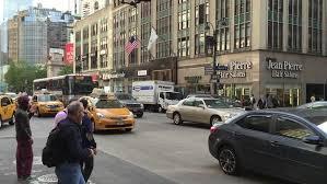 new york city ny november 24 traffic in downtown new york city