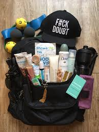fitness gift basket 23 fitness experts show us what s in their bags thefashionspot