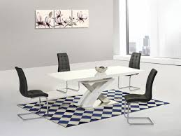 modern white high gloss glass extending dining table u0026 8 chairs