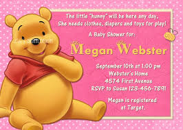 winnie the pooh baby shower invitations templates invitations