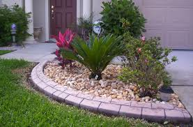 Lava Rock Landscaping by Brick Edgers For Front Yard Beautify Your Yard With Stamped