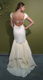 mermaid claire pettibone wedding dress with beading open back and