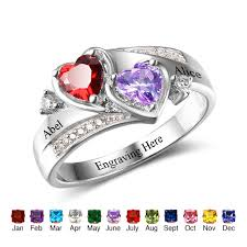 engraved sterling rings images Personalized engagement rings 925 sterling silver rings engrave jpg