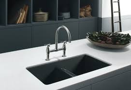 black countertop with black sink kitchens black stainless steel kitchen sink also double modern
