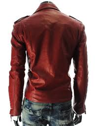 motorcycle style jacket and america style man motorcycle jacket leather pu inclined zipper