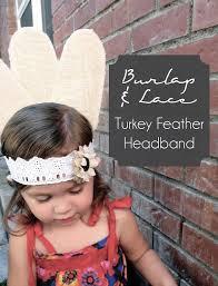 turkey feather headband burlap lace turkey feather headband smart school house